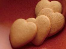 Biscotti a forma di cuore fragranti